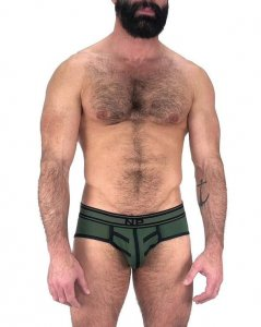 Nasty Pig Driller Brief Underwear Green 5597