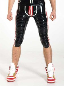 Mister B Rubber Football Shorts Black/White/Red 314000