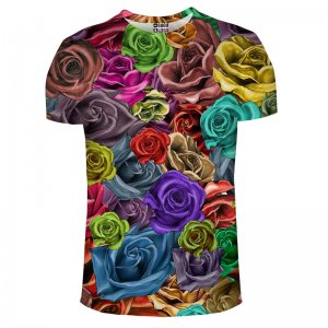 Mr. Gugu & Miss Go Colorful Roses Unisex Short Sleeved T Shirt TSH051