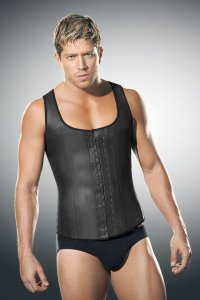Ann Chery Latex Men's Girdle Body Shaper Black 2033