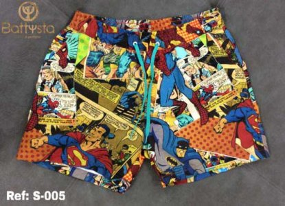Battysta Comic Book Shorts Swimwear S016