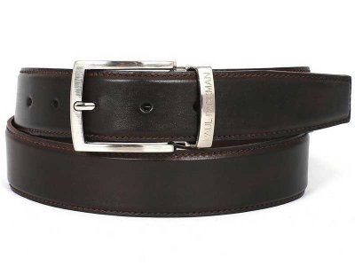 Paul Parkman Hand Painted Leather Belt Dark Brown B01-DARK-B...