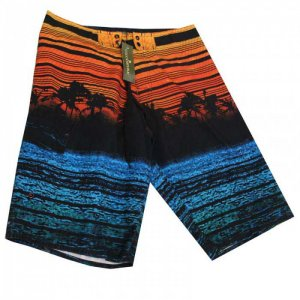 Lord Tropical Stripes Boardshorts Beachwear Orange MA001