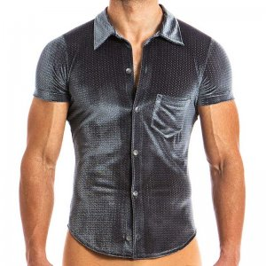 Modus Vivendi Wolf Jock Short Sleeved Shirt Grey 17841