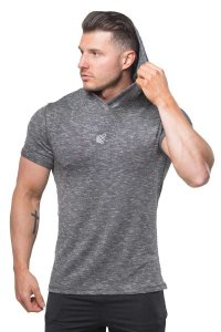 Jed North Pullover Short Sleeved Hoodie Sweater Black