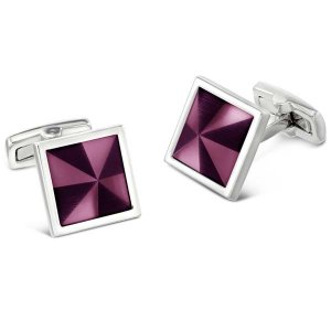 Duncan Walton Masson Cufflinks Purple C2801