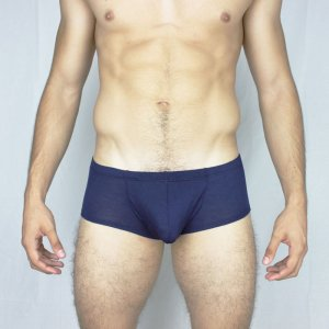 McKillop Happy Balls Modal Hiphugger Boxer Brief Underwear Navy HUMO-NV1