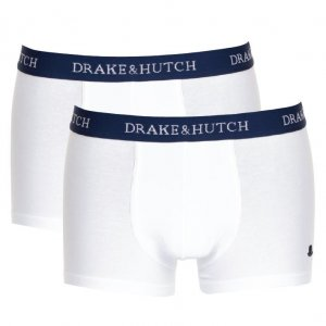 Drake & Hutch [2 Pack] Solid Boxer Brief Underwear White