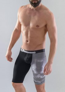 Geronimo Long Boxer Brief Underwear Black 1752B9