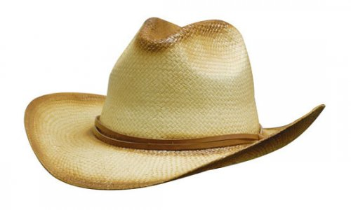 Headwear Professional Sprayed Cowboy Straw Hat With Leather Band S4282