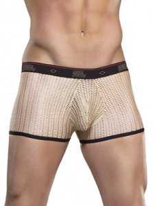 Male Power Herringbone Crochet Mini Shorts Boxer Brief Underwear Nude 144-170