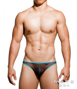 Mategear Kyeong In Mesh Very Sexy Nano Thong Underwear Black TH201101