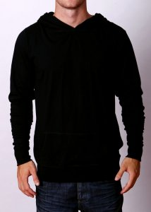 By The People Lightweight Hoody Long Sleeved Sweater Black
