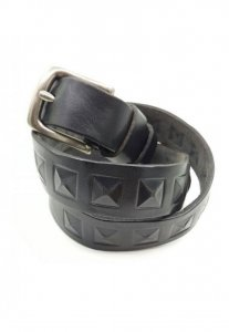 Spy Henry Lau Leather Pressed Studs Shape Belt Black SP788AC...