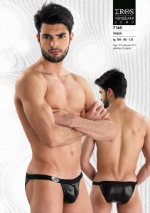 Eros Veneziani Stripe Tanga Brief Underwear Black 7165