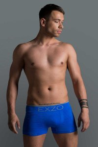 Exzo Microfiber Boxer Brief Underwear Blue