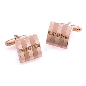 Duncan Walton Radan Cufflinks Rose Gold C2544B