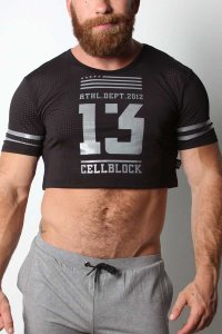 CellBlock 13 Relay Cutoff CropTop Short Sleeved T Shirt Blac...
