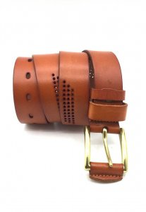 Spy Henry Lau Punch Hole Casual Belt Brown SP788AC54CHDHK