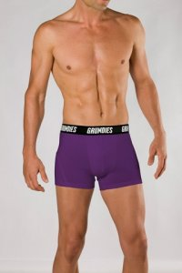 Grundies Muscle Trunk Underwear Purple/Black