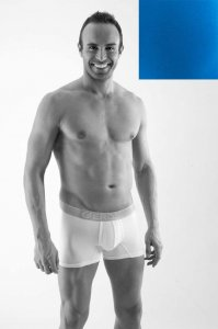Geronimo Contour Boxer Brief Underwear Blue 1362B7