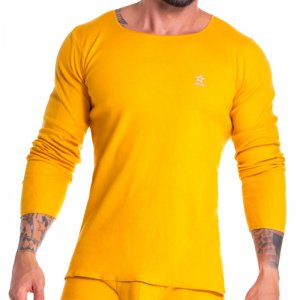 Jor Arizona Rib Scoop Neck Long Sleeved T Shirt Mustard 0921