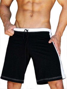 Jack Adams Relaxed Gym Shorts Black/White 402-103