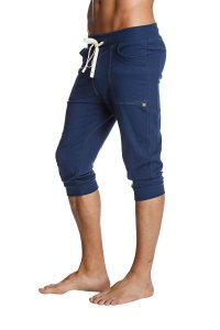 4-rth Cuffed Yoga 3/4 Pants Solid Royal Blue