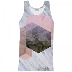 Mr. Gugu & Miss Go Marble River Unisex Tank Top T Shirt TT731