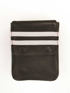 Mister B Harness Leather Wallet Black/White 601315
