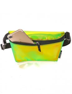 Fydelity Ultra Slim Fanny Pack Bag Plasma Green 83243