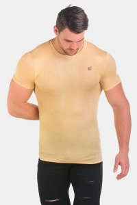 Jed North Magnificent Scoop Short Sleeved T Shirt Beige JNTOP018
