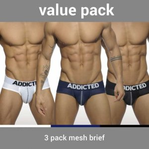 Addicted [3 Pack] Mesh Push Up Brief Underwear AD475P