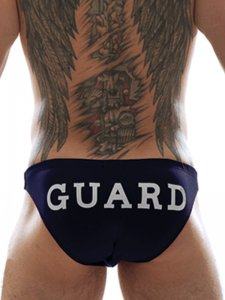 Good Boy Gone Bad Guard Bikini Swimwear Navy