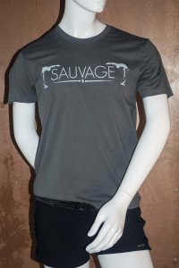 Sauvage Bend Short Sleeved T Shirt Charcoal