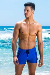 Sauvage Moderno Two Tone Square Cut Trunk Swimwear Royal/Navy