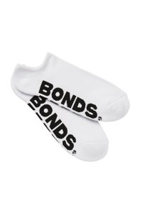 Clearance Bonds [3 pack] Men's Logo No Show Sport Socks White S8363N