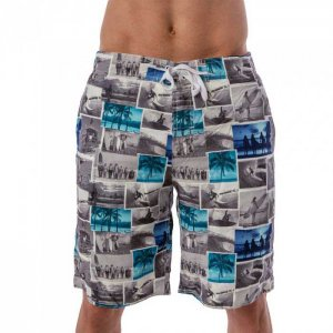 Lord Tropical Collage Boardshorts Beachwear Grey MA012