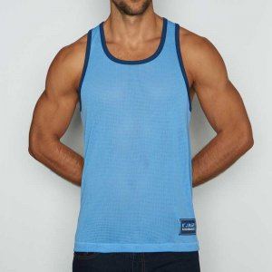 C-IN2 Scrimmage Athletic Tank Top T Shirt Baby Blue 6806