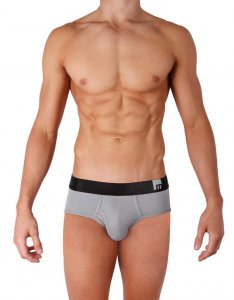 Mosmann Solid Brief Underwear Grey MS3810