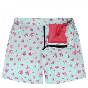Mosmann Byron Resort Shorts Swimwear Cool Mint/Coral MSW0118
