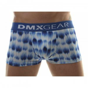 DMXGEAR Leopard Luxury Boxer Brief Underwear White/Blue
