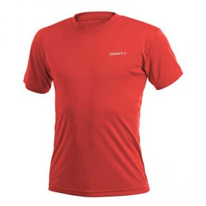 Craft Active Run Short Sleeved T Shirt Bright Red 199205