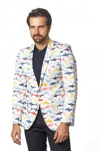Suslo Couture Sharks Blazer Jacket SC6011