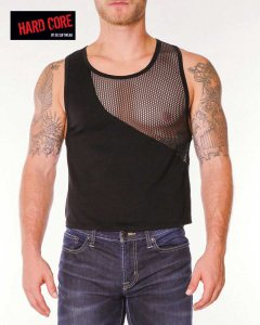 Go Softwear Chain Link Gladiator Muscle Top T Shirt Black 4206