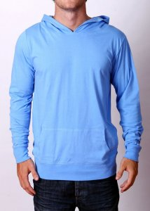 By The People Lightweight Hoody Long Sleeved Sweater Blue