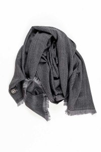 L'Homme Invisible Chevron 100% Wool Scarf Grey/Black 554DIS5...