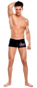 Male Power Open For Business Oral Assault Boxer Brief Underwear Black 007 USA3