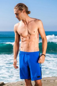 Sauvage Micro Fiber Lightweight Workout Shorts Royal