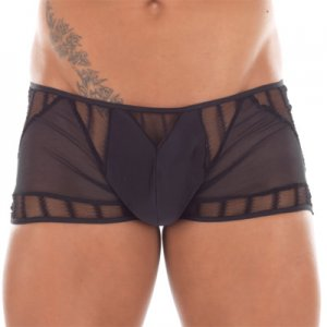 Lookme Vibration Sheer Insert Boxer Brief Underwear Black 12-67